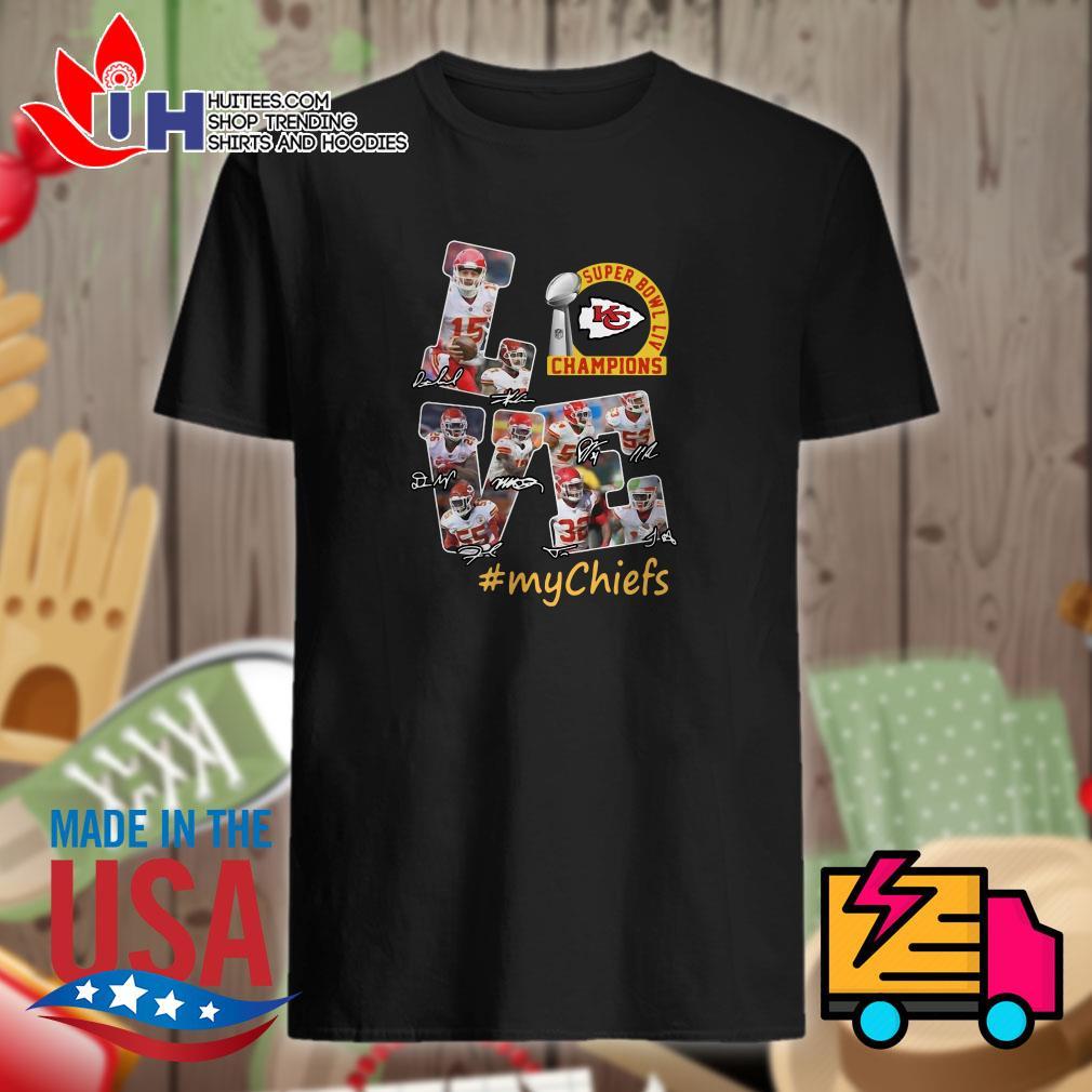 Love Kansas city Chiefs super bowl liv champions mychiefs shirt