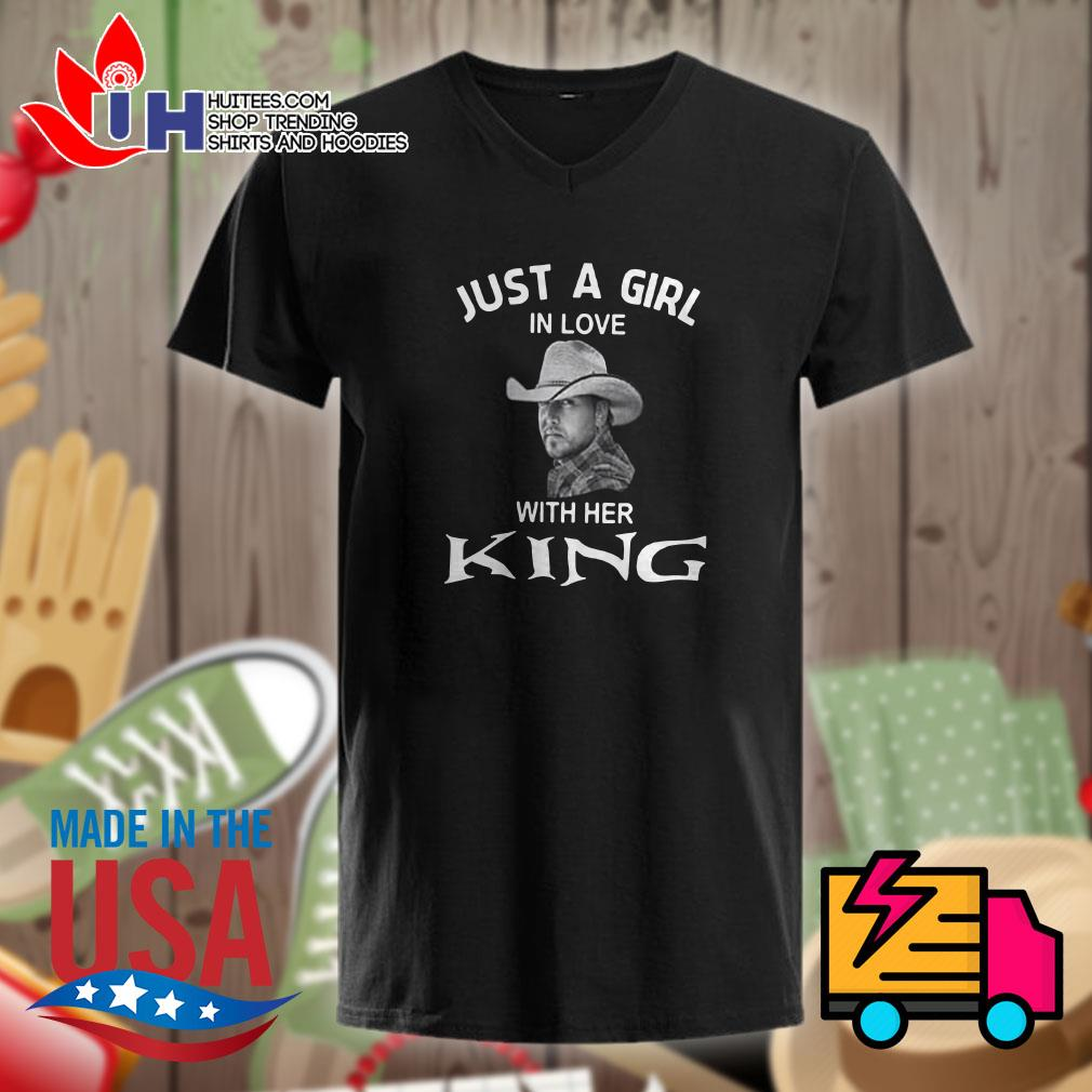 Luke Bryan Just a girl in love with her king Ladies t-shirt