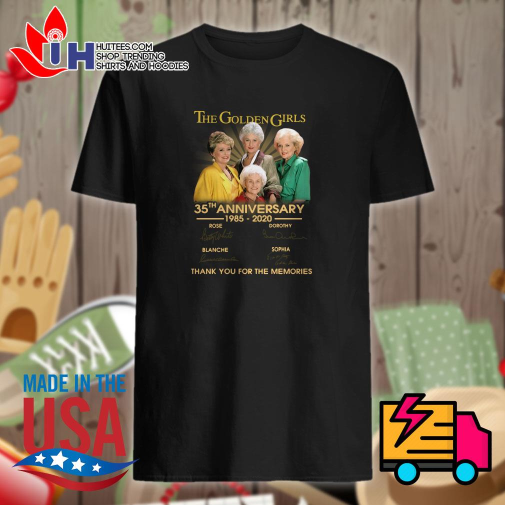 The Golden girls 35th anniversary 1985-2020 thank you for the memories shirt