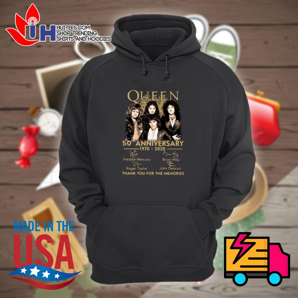 Queen 50th anniversary 1970-2020 signature thank you for the memories Hoodie