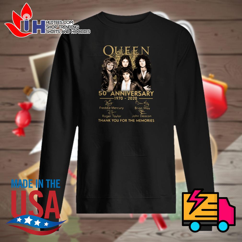 Queen 50th anniversary 1970-2020 signature thank you for the memories Sweater
