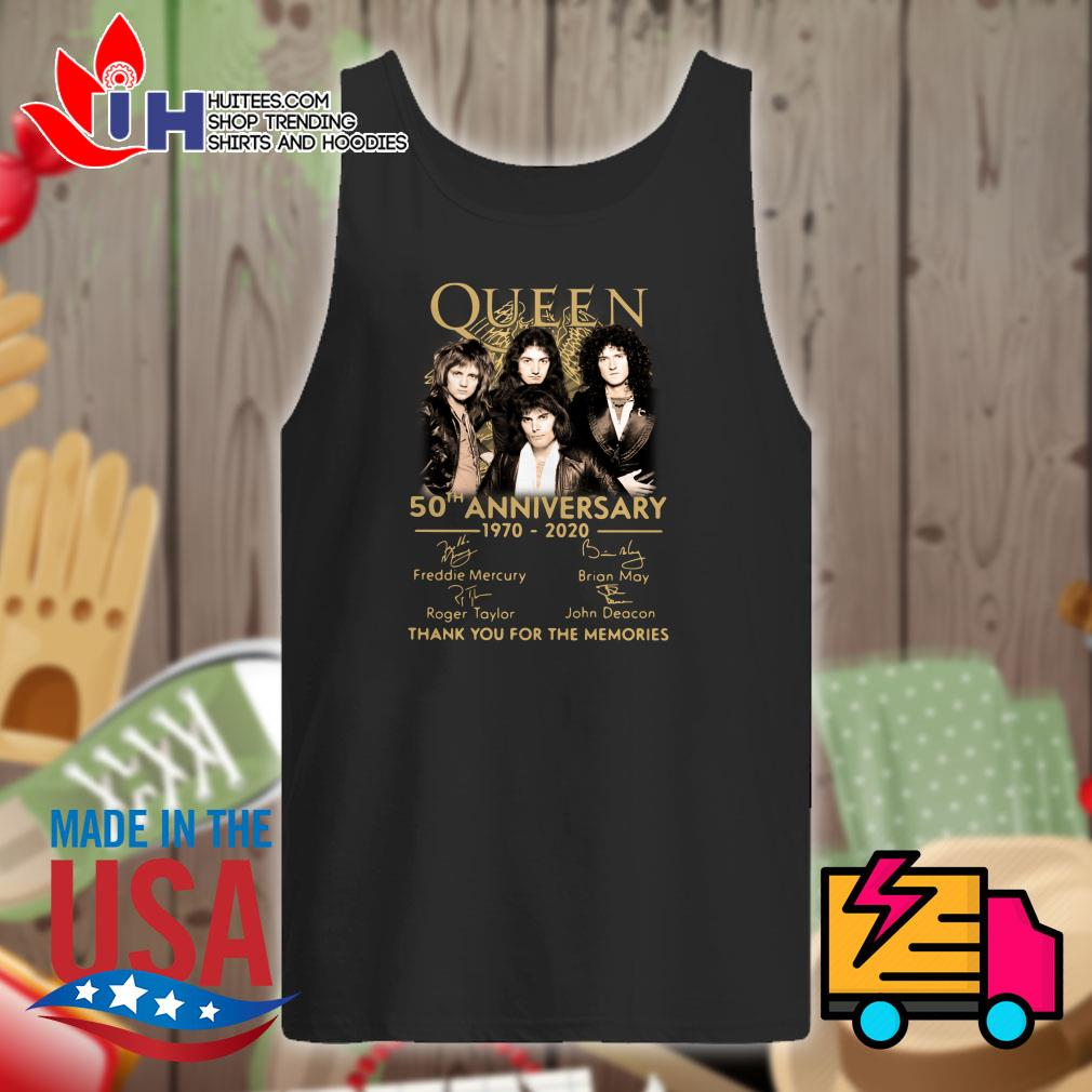 Queen 50th anniversary 1970-2020 signature thank you for the memories Tank top