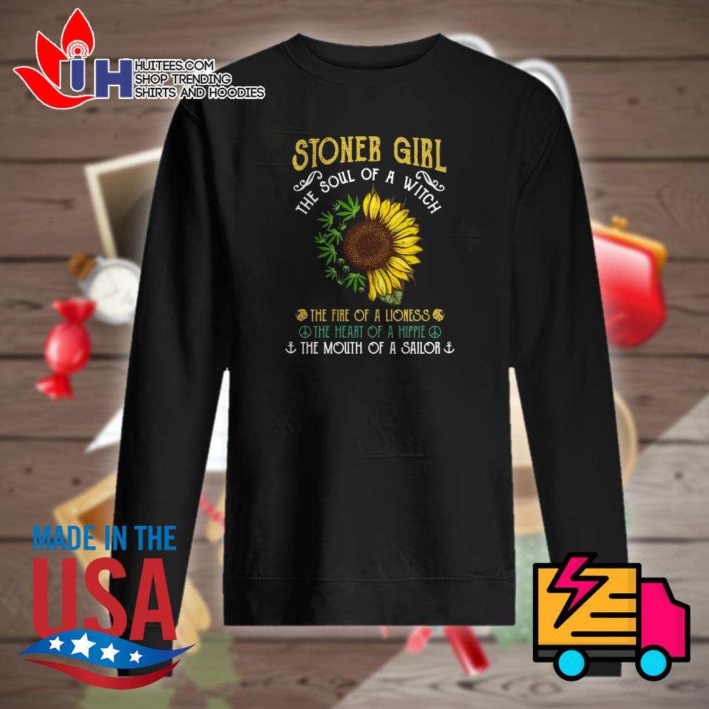 Sunflower and weed stoner girl the soul of a witch Sweater