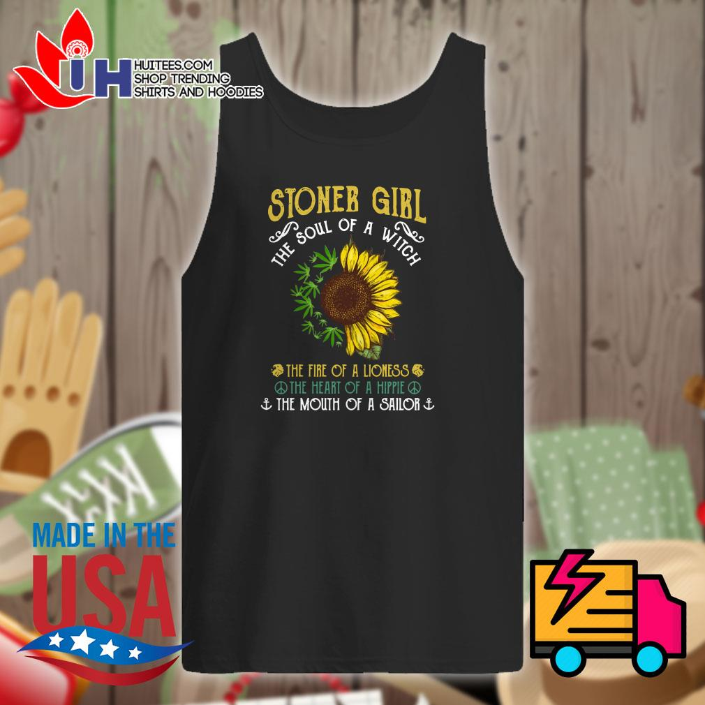 Sunflower and weed stoner girl the soul of a witch Tank top