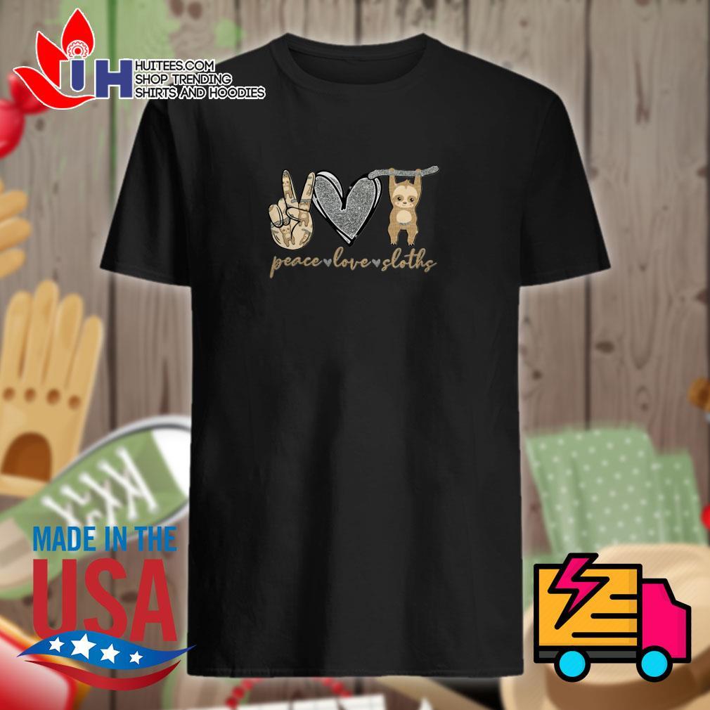 Peace love sloths shirt