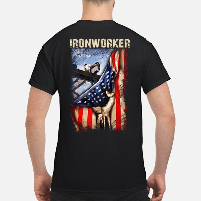 Ironworker American flag shirt