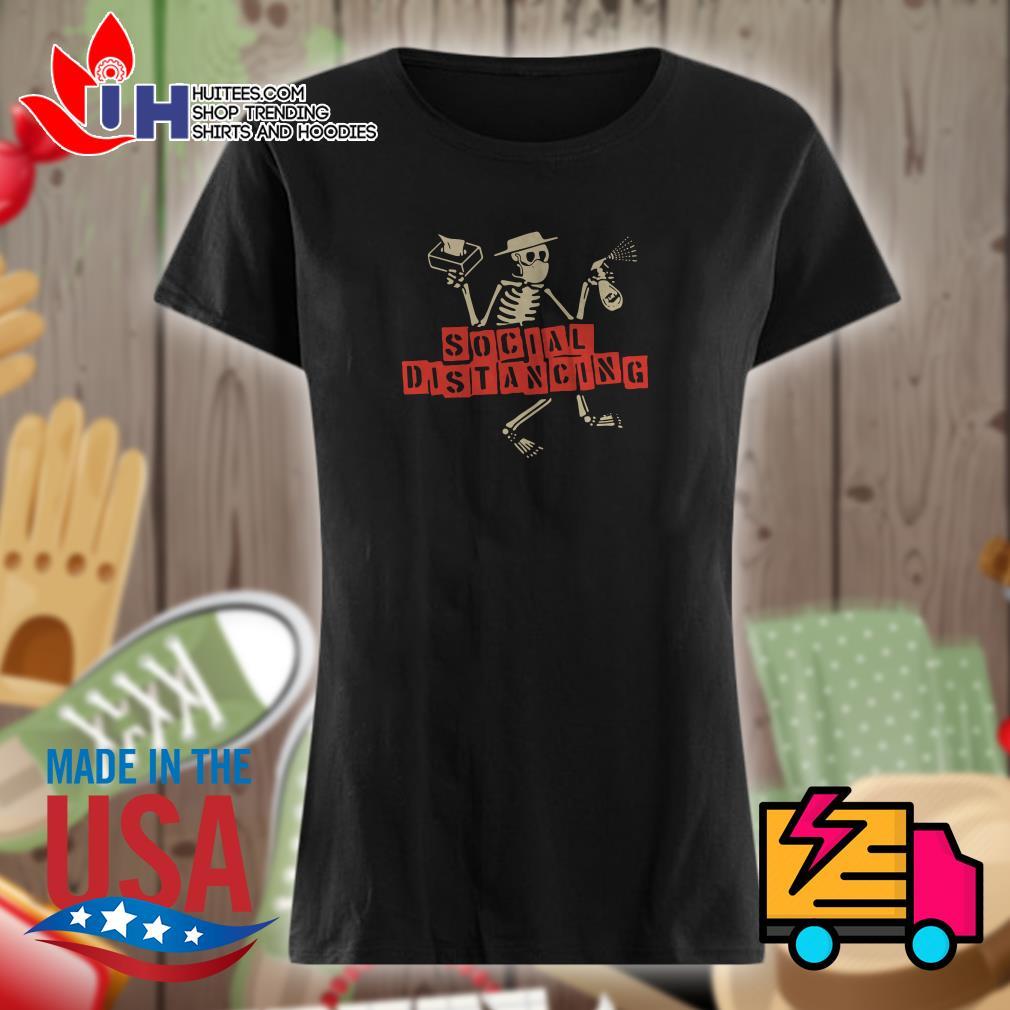 Skeleton Social distancing Ladies t-shirt