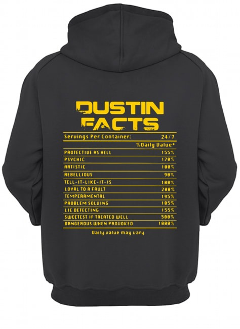 Dustin facts daily value may vary Hoodie