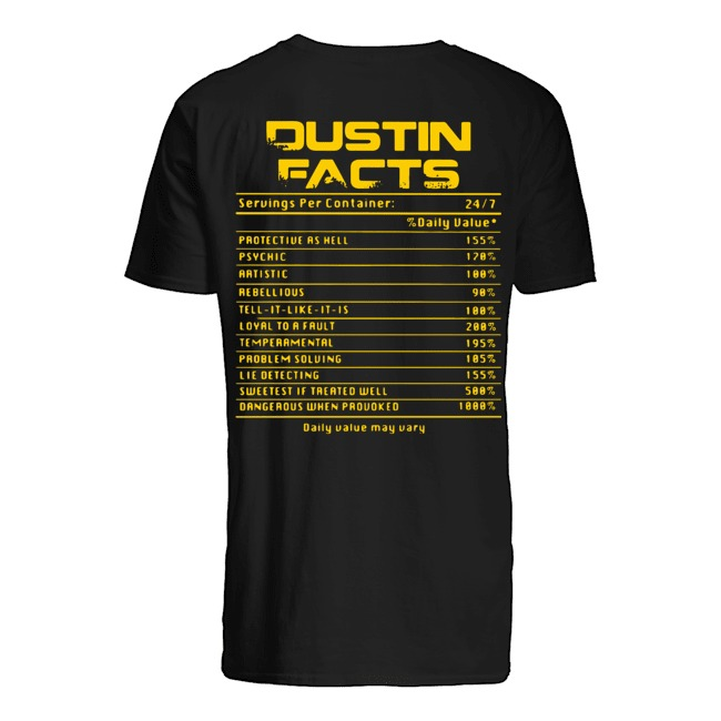 Dustin facts daily value may vary Guys t-shirt