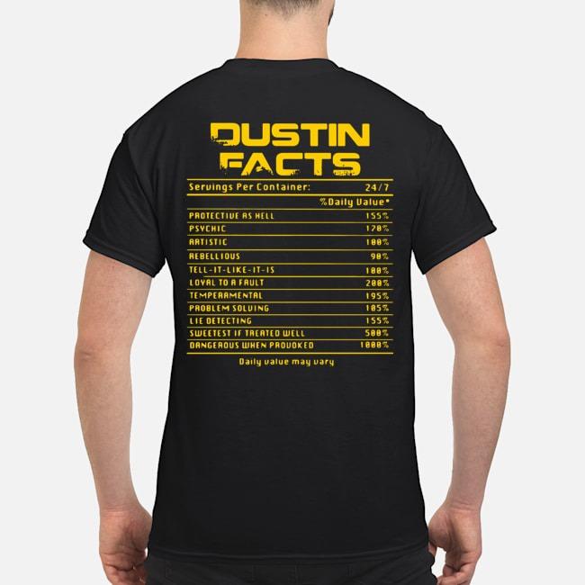 Dustin facts daily value may vary shirt