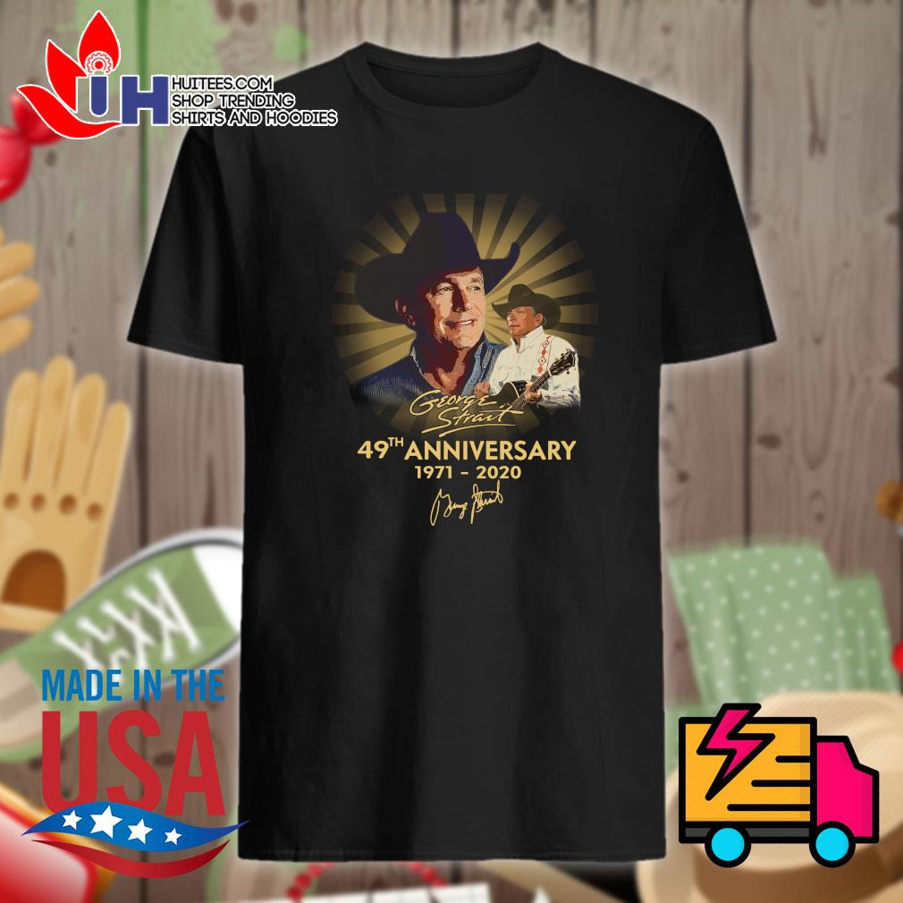George Strait 49th anniversary 1971-2020 signatue shirt