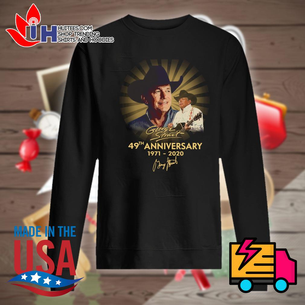 George Strait 49th anniversary 1971-2020 signatue s Sweater