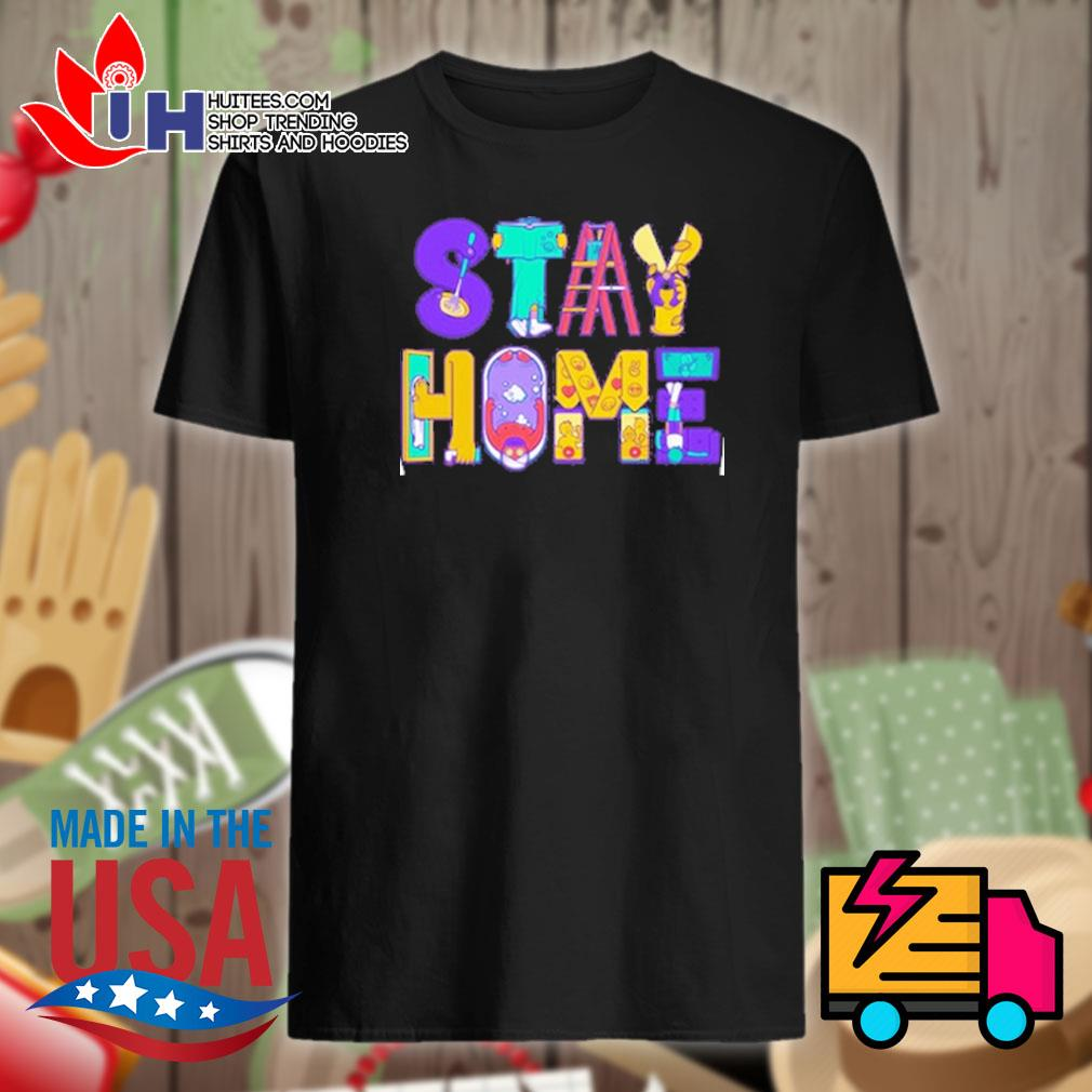 Stay home cartoon shirt