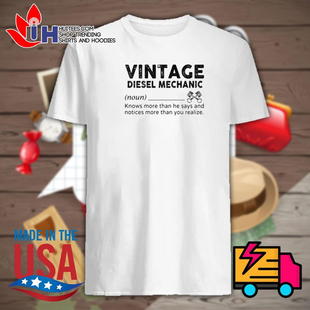 Define Vintage diesel mechanic shirt