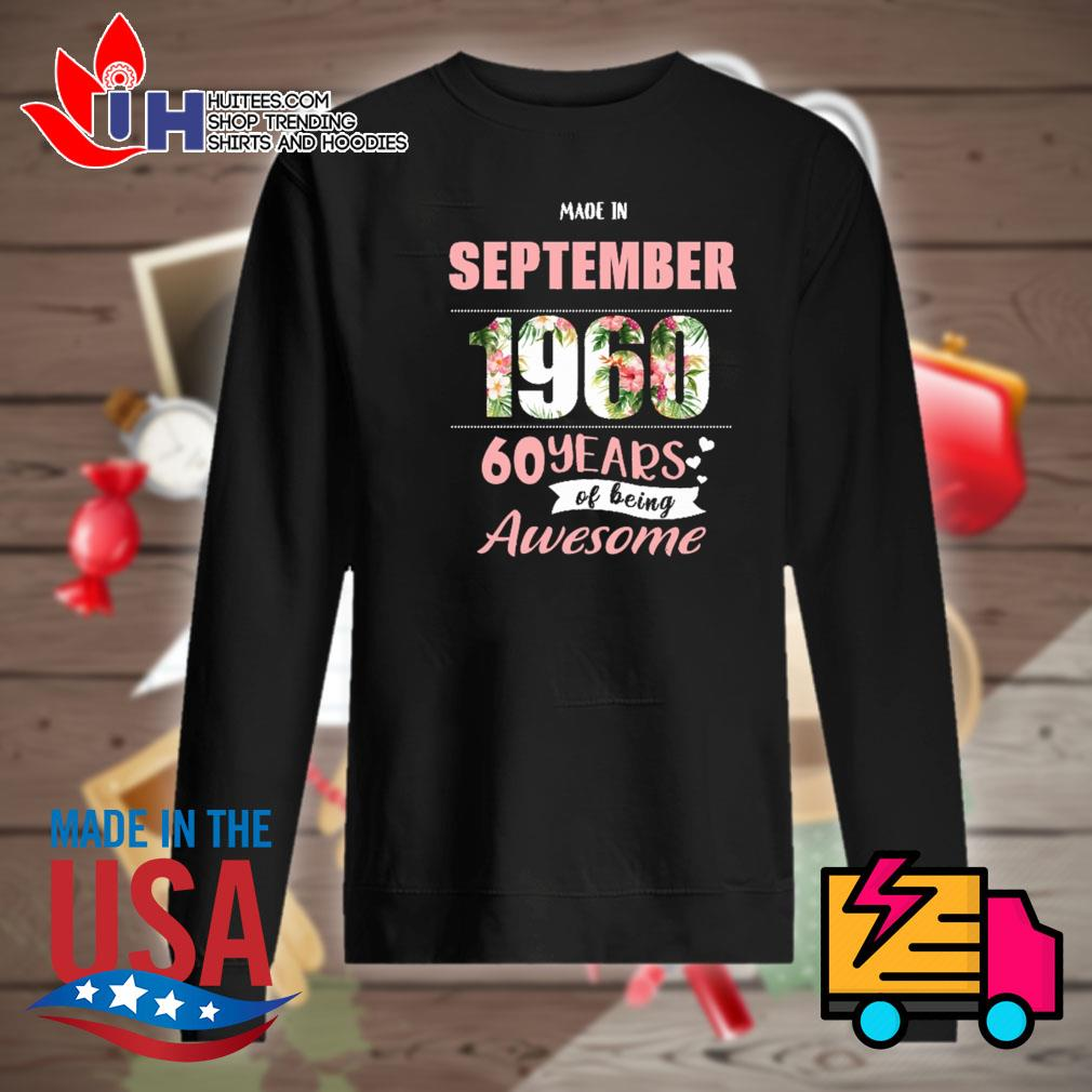 Made in September 1960 60 years of being awesome s Sweater
