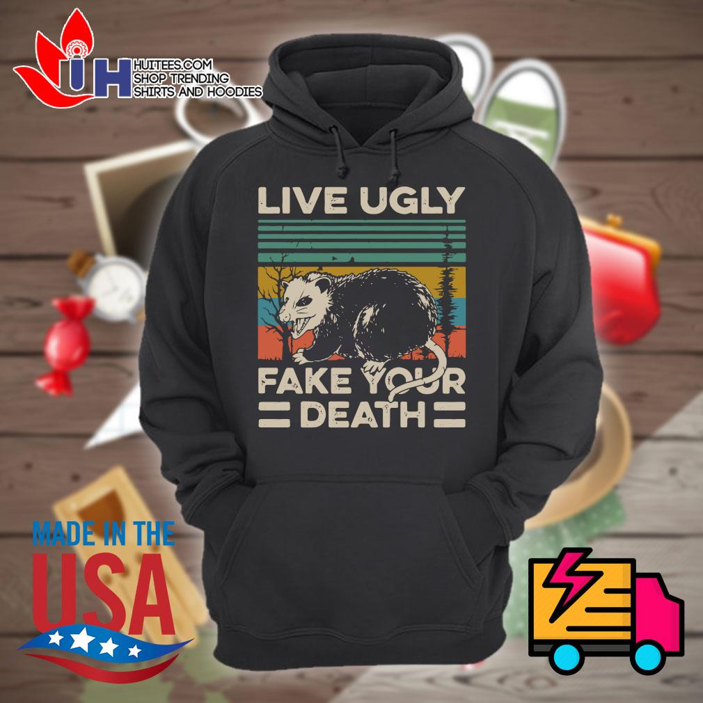 Live ugly fake your death Vintage s Hoodie