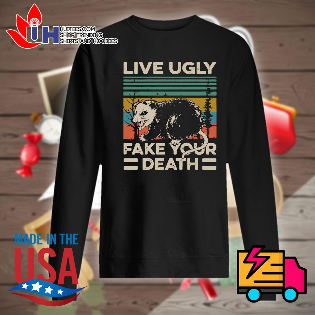 Live ugly fake your death Vintage s Sweater