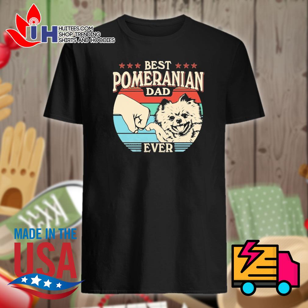 Best pomeranian dad ever vintage shirt