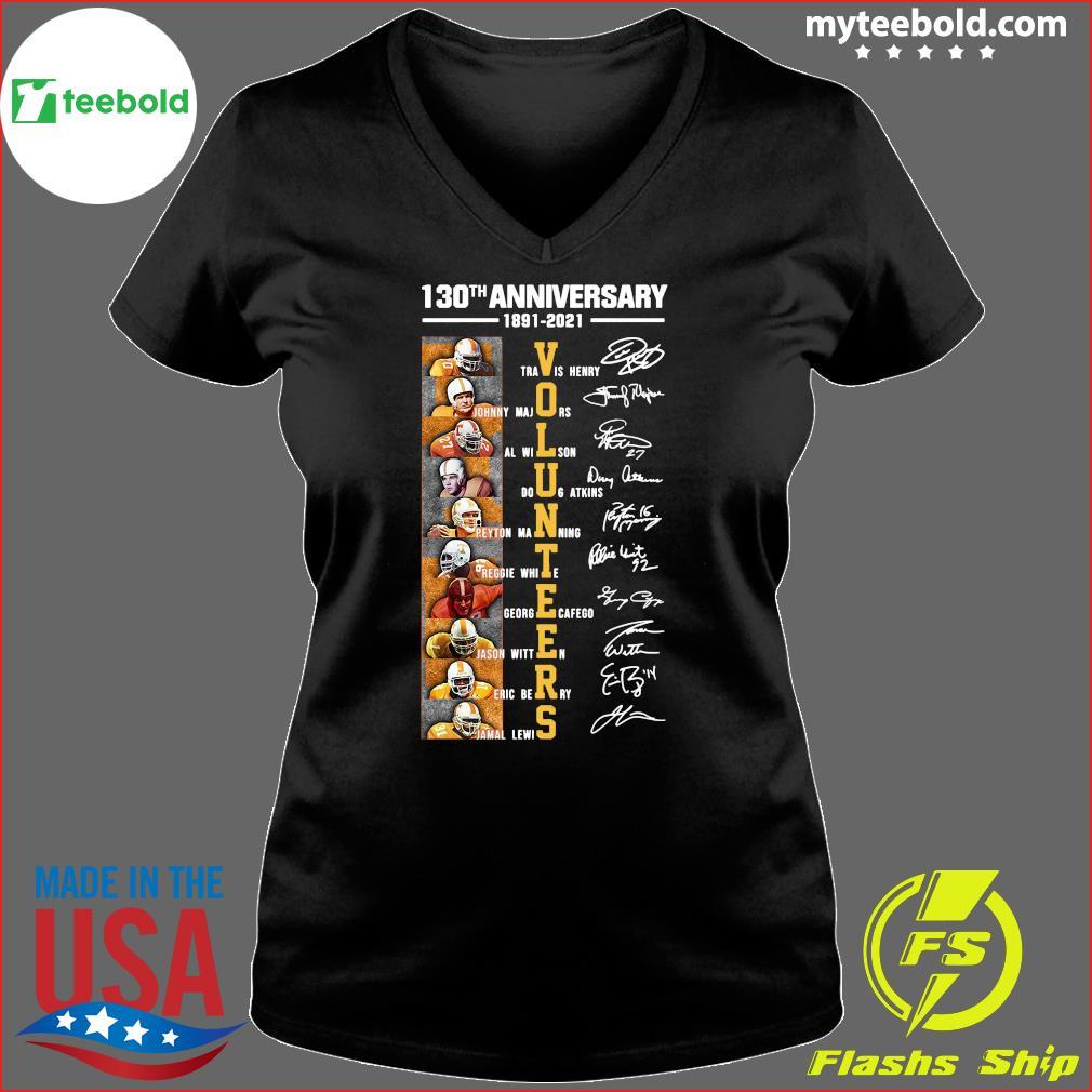 130th Anniversary 1891 2021 Volunteers Signatures Shirt Ladies V-neck