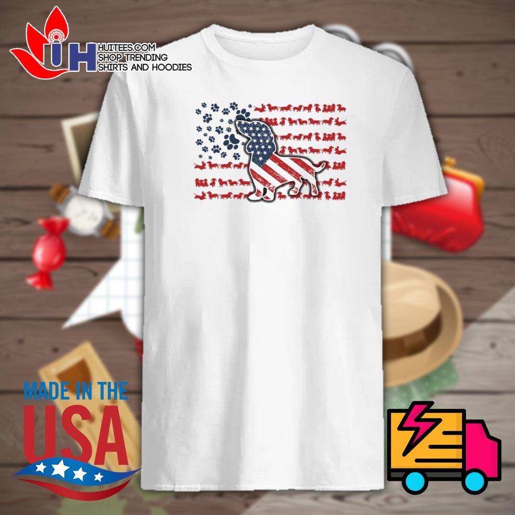 Dachshund american flag shirt
