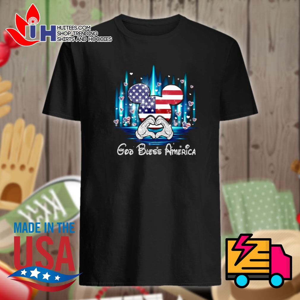 Mickey mouse God bless America shirt