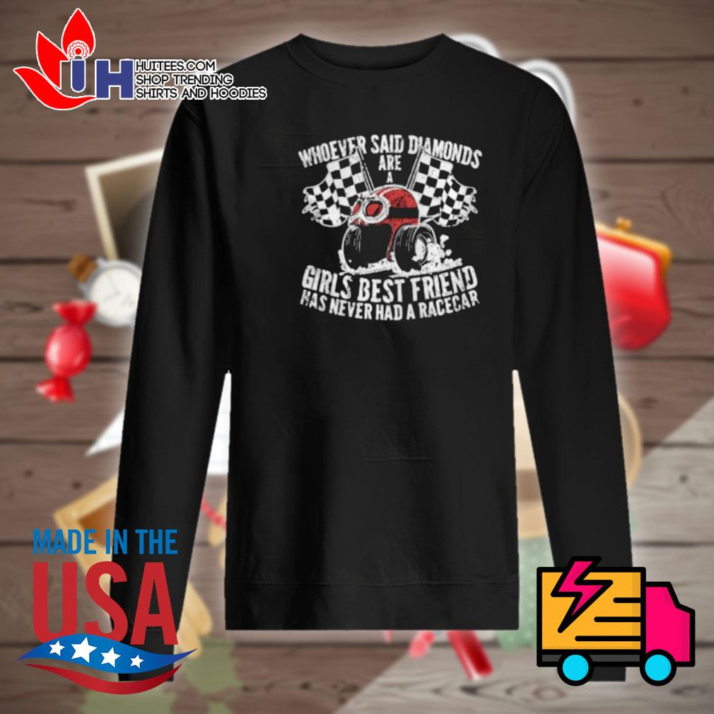 Whoever said diamonds are a girls best friend has never had a race car s Sweater