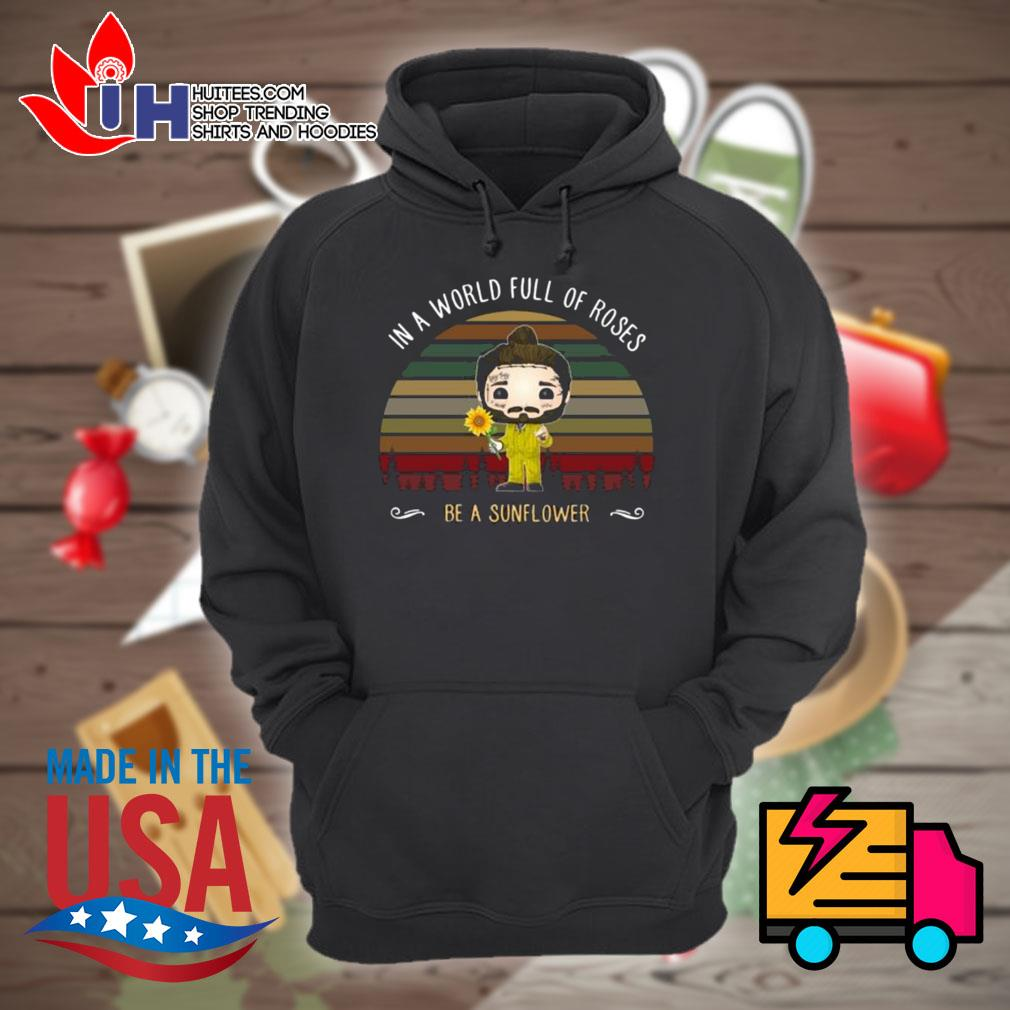 Post Malone chibi In a world full of roses be a sunflower s Hoodie