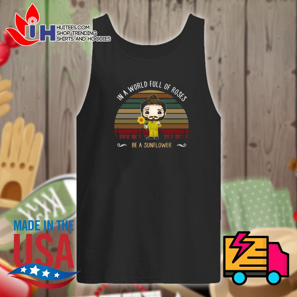 Post Malone chibi In a world full of roses be a sunflower s Tank-top