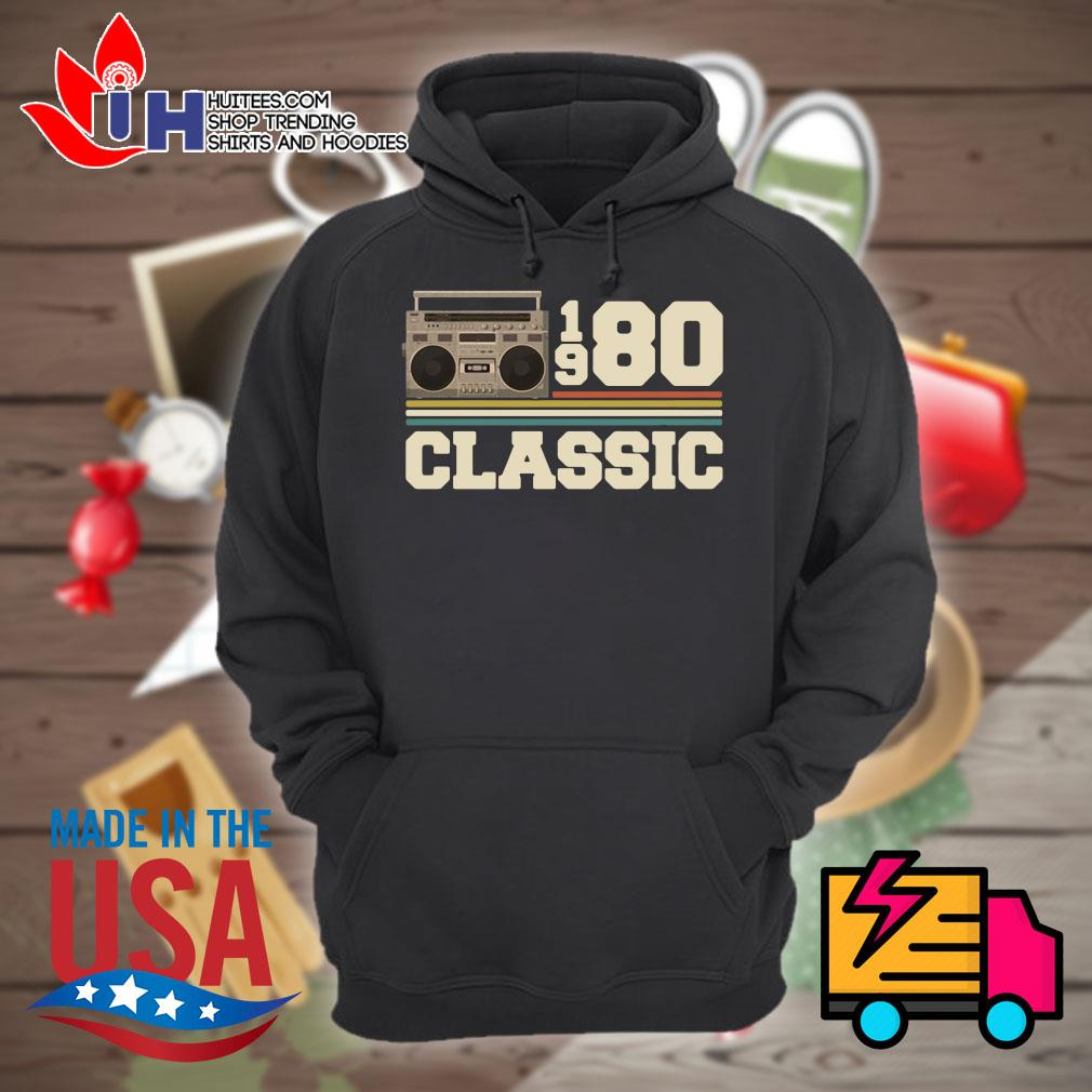 Cassette 1980 classic s Hoodie
