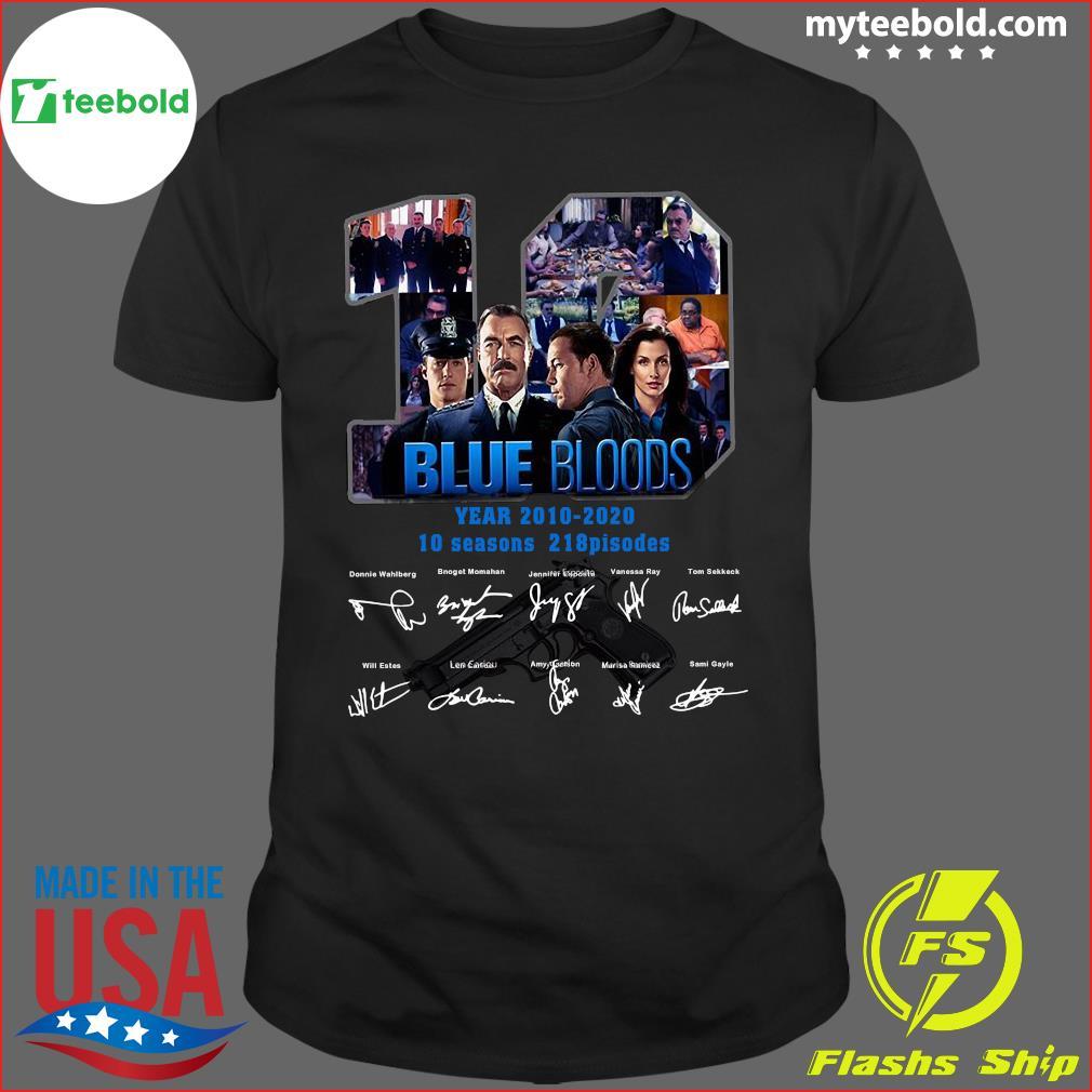 10 Years Blue Bloods 2010 2020 10 Seasons 218 Episodes Signatures Shirt