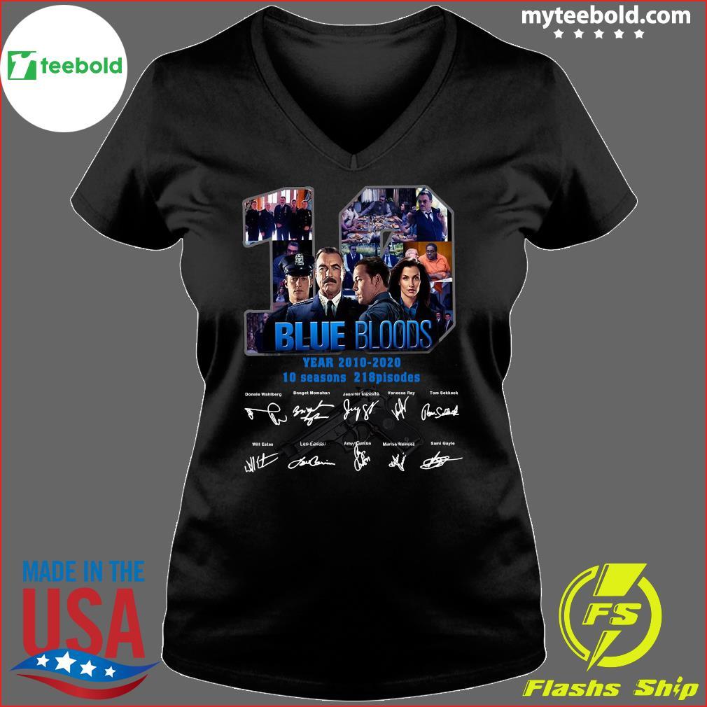 10 Years Blue Bloods 2010 2020 10 Seasons 218 Episodes Signatures Shirt Ladies V-neck