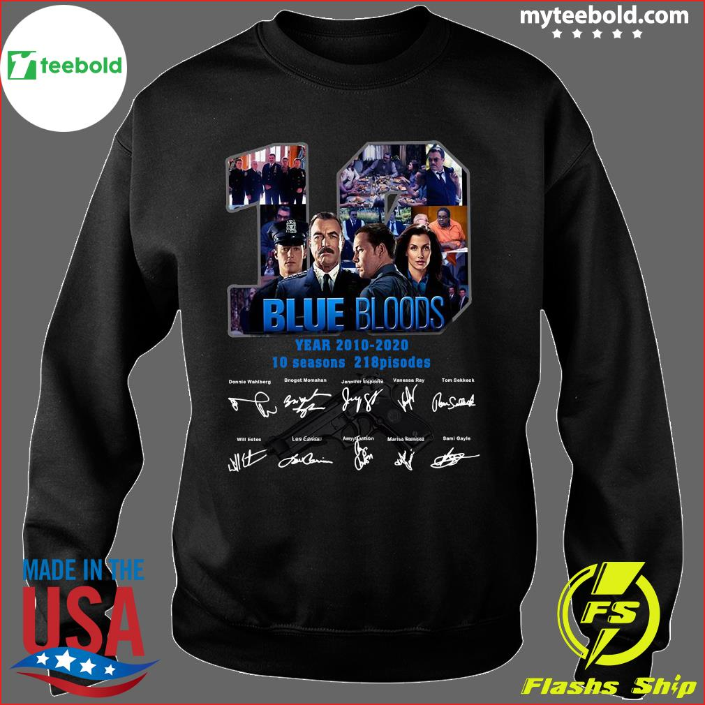 10 Years Blue Bloods 2010 2020 10 Seasons 218 Episodes Signatures Shirt Sweater
