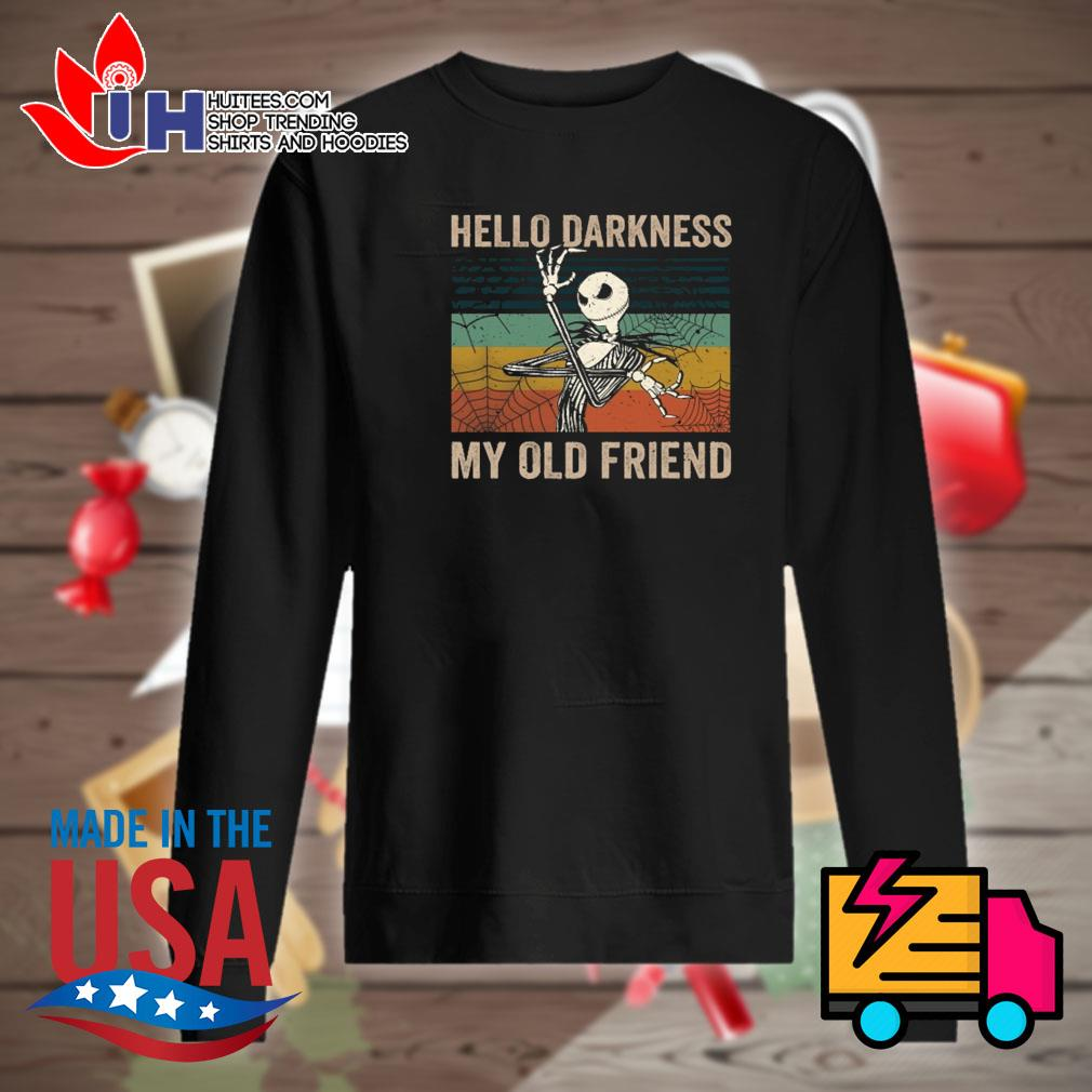 Jack Skellington Hello darkness my old friend vintage s Sweater