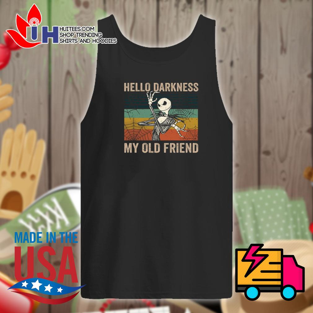 Jack Skellington Hello darkness my old friend vintage s Tank-top
