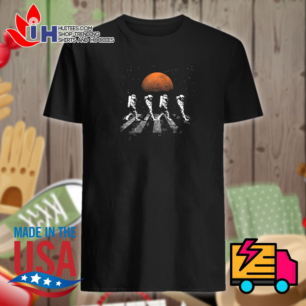 Astronaut walking in space mars shirt