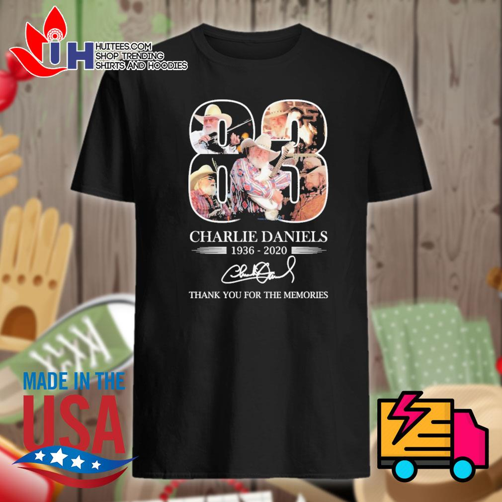 Charlie Daniels 83 1936-2020 signature thank you for the memories shirt