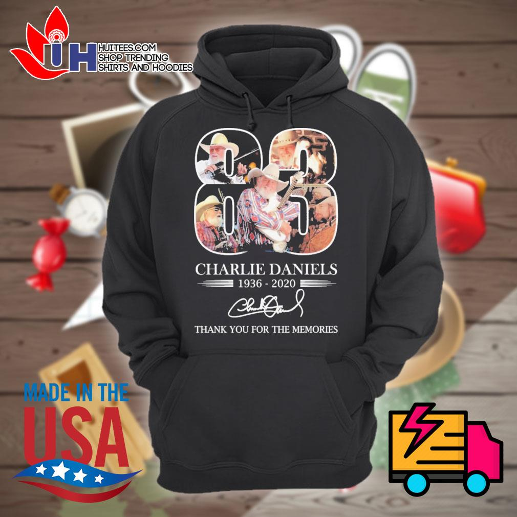 Charlie Daniels 83 1936-2020 signature thank you for the memories s Hoodie