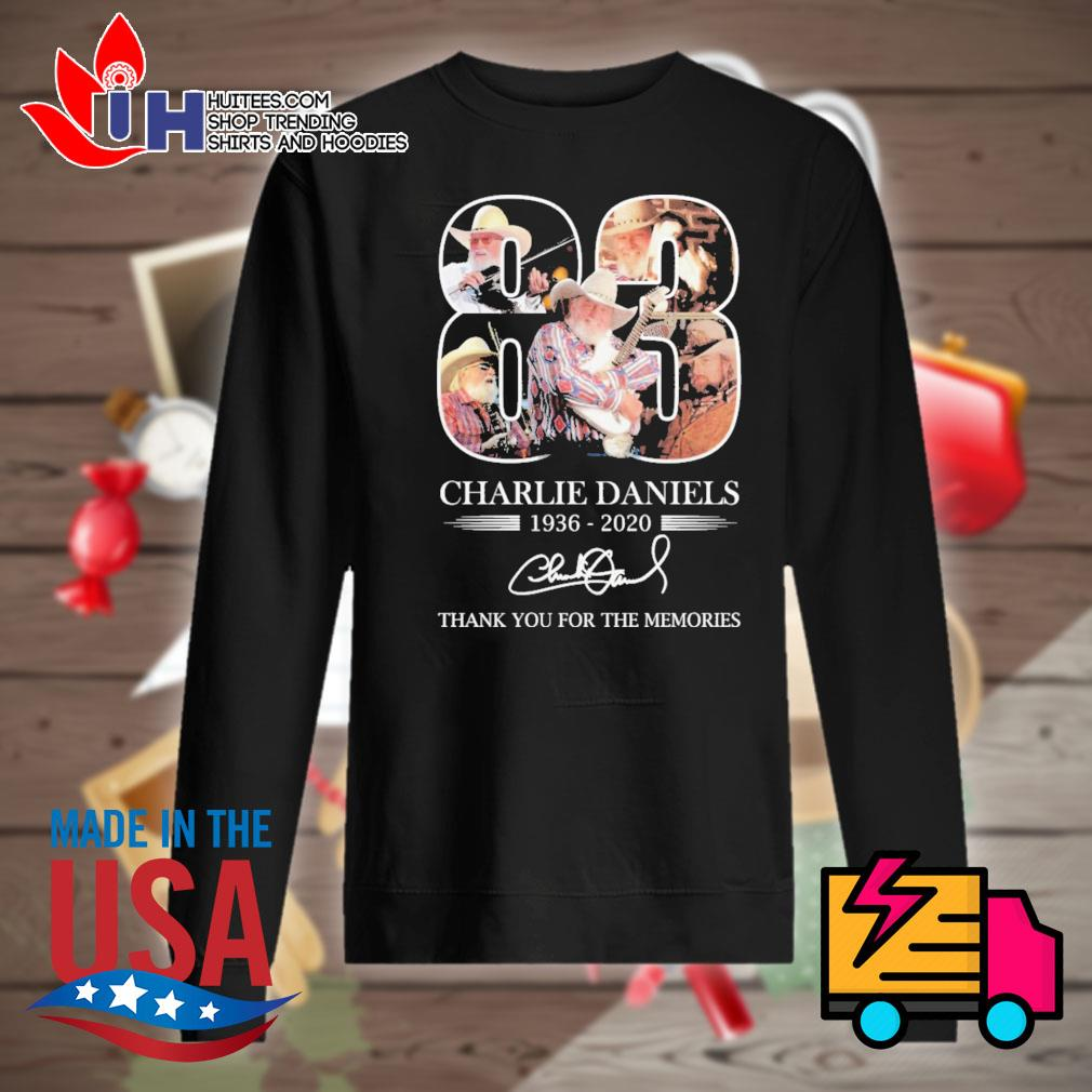 Charlie Daniels 83 1936-2020 signature thank you for the memories s Sweater