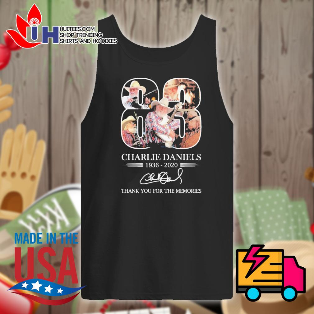 Charlie Daniels 83 1936-2020 signature thank you for the memories s Tank-top
