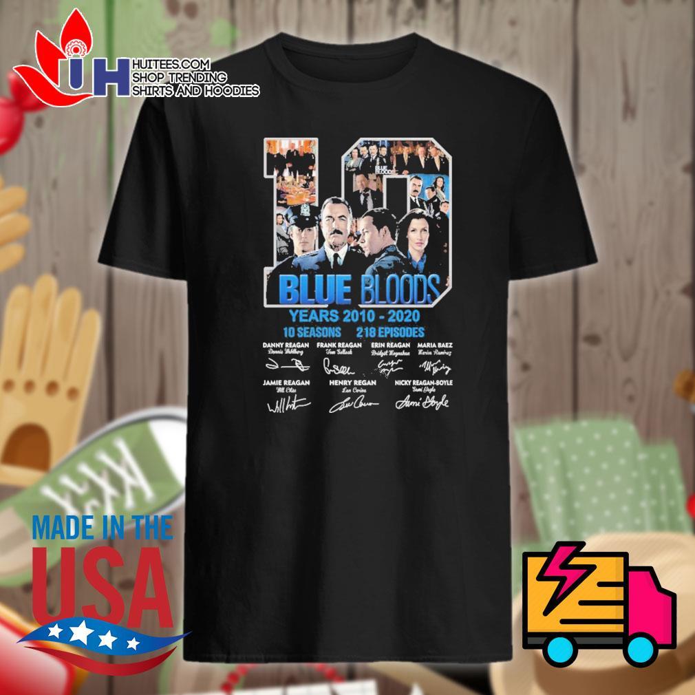 Blue Bloods 10 years 2010-2020 10 seasons 218 episodes signatures shirt