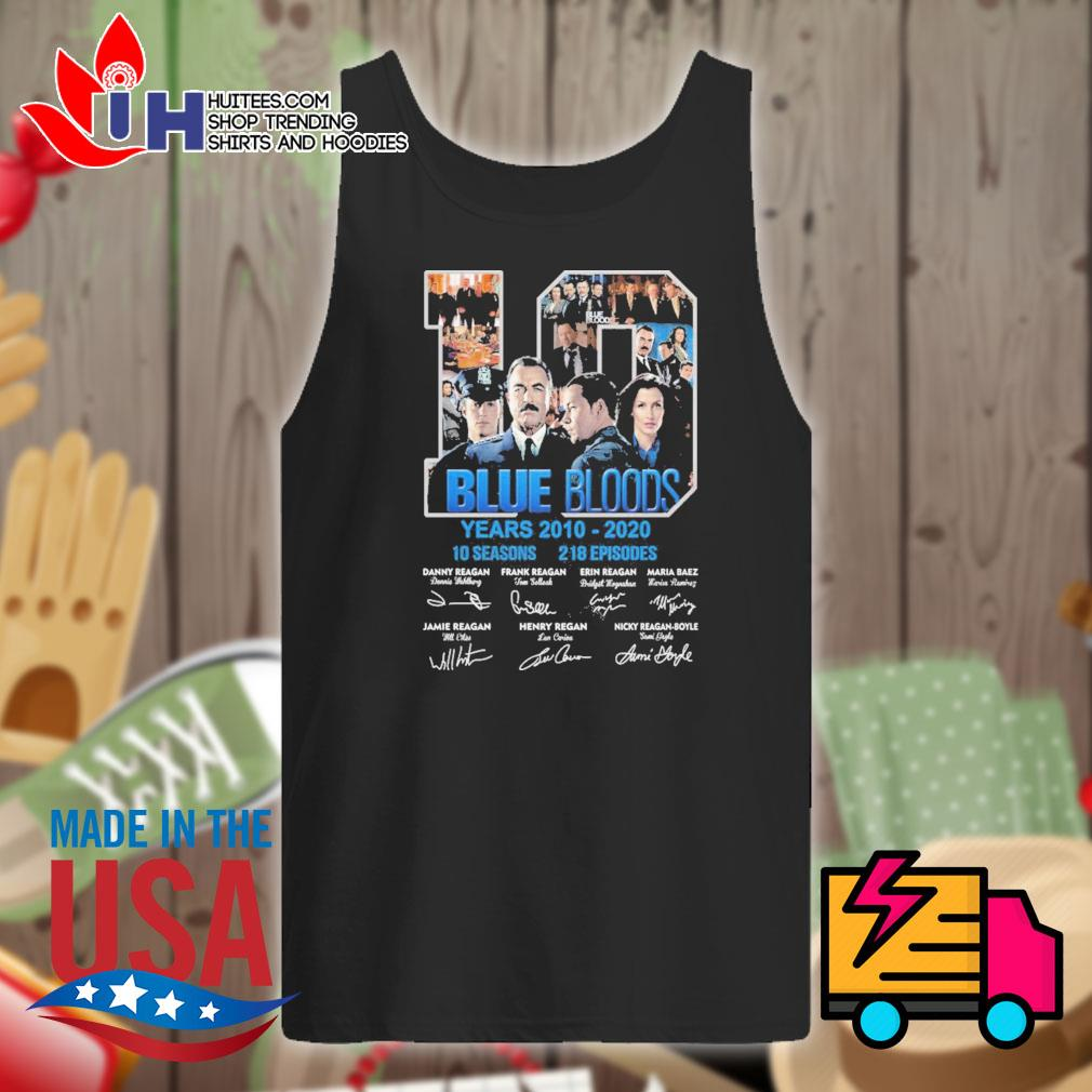 Blue Bloods 10 years 2010-2020 10 seasons 218 episodes signatures s Tank-top