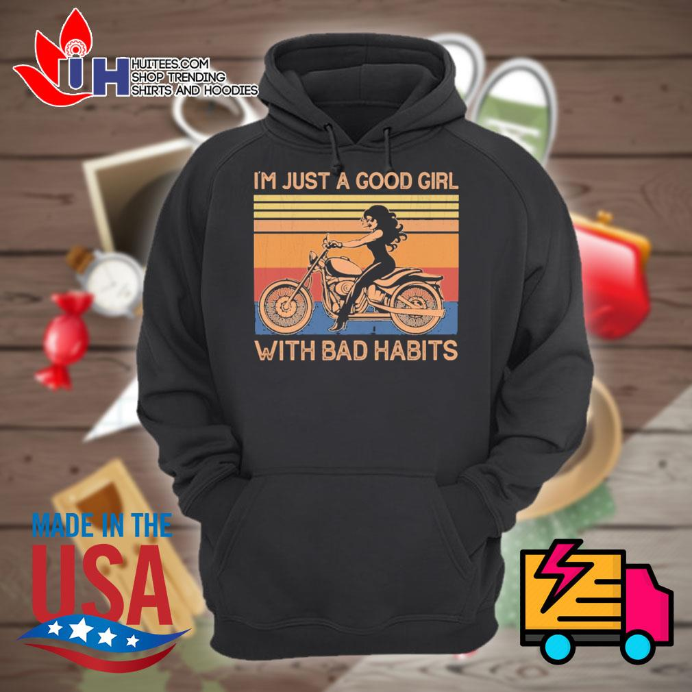 I'm just a good girl with bad habits vintage s Hoodie
