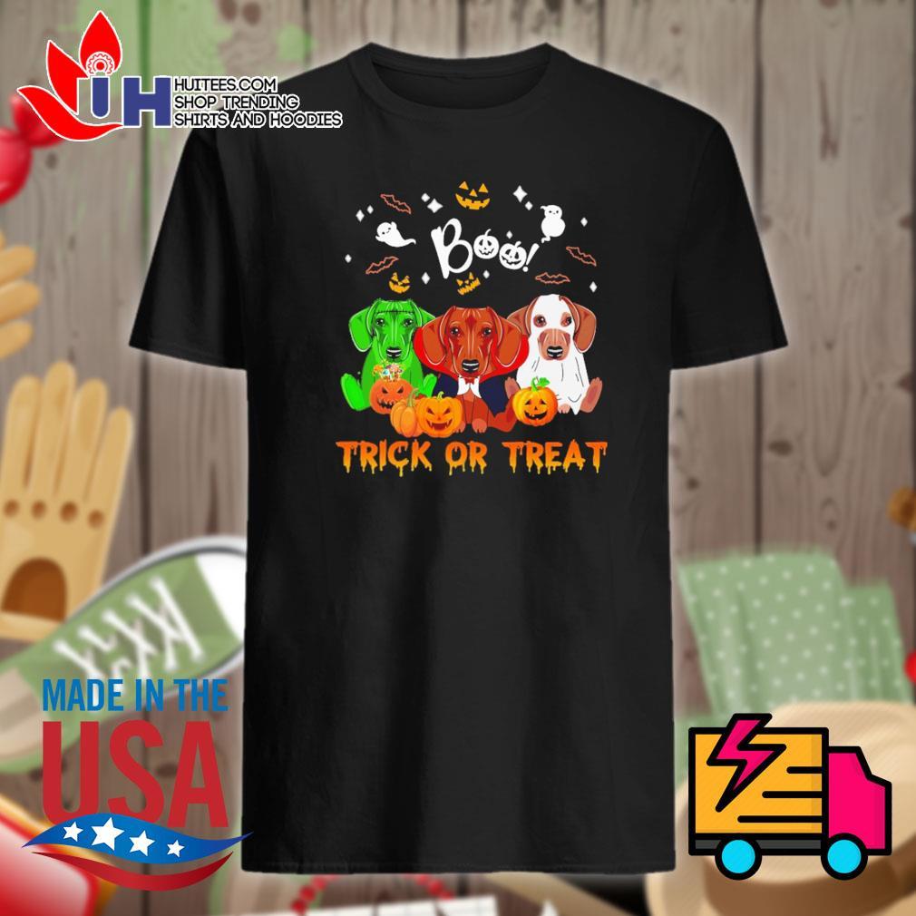 Dachshund Halloween Boo trick or treat shirt