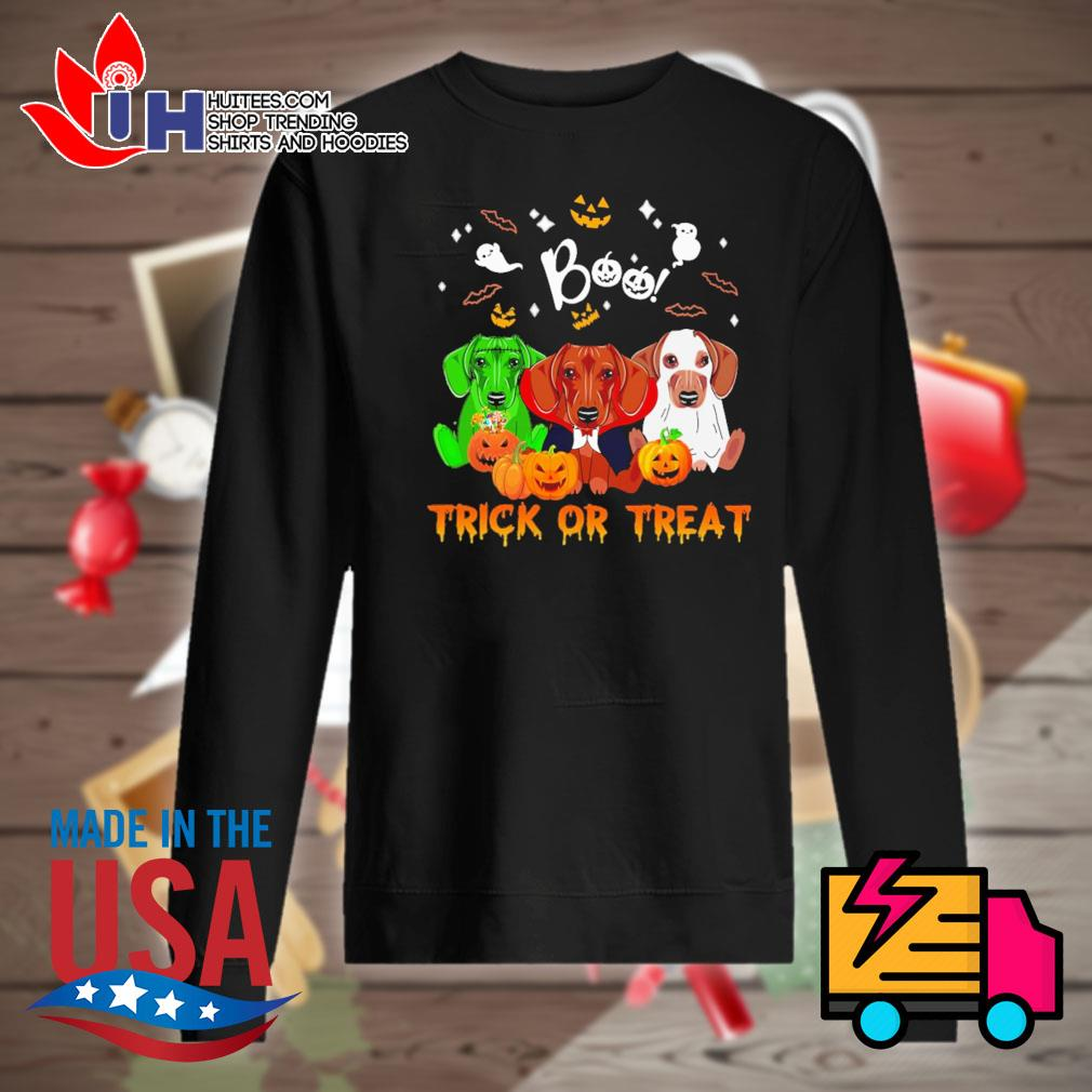 Dachshund Halloween Boo trick or treat s Sweater