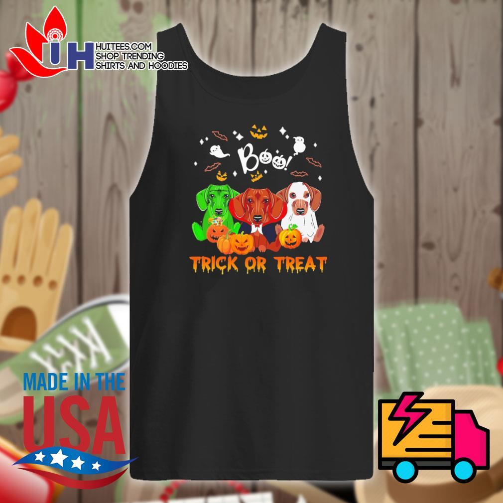 Dachshund Halloween Boo trick or treat s Tank-top