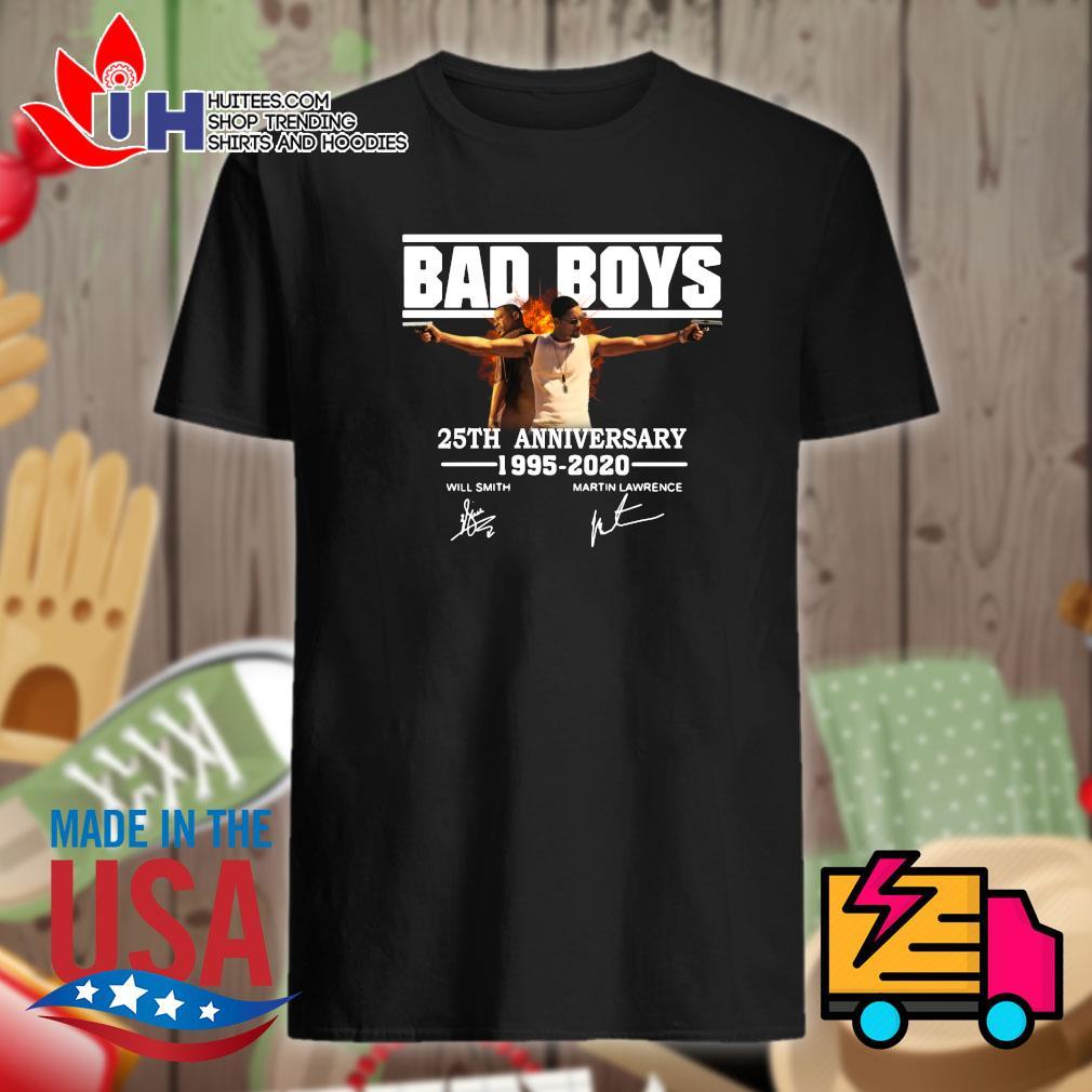 Bad boys 25th anniversary 1995-2020 signatures shirt