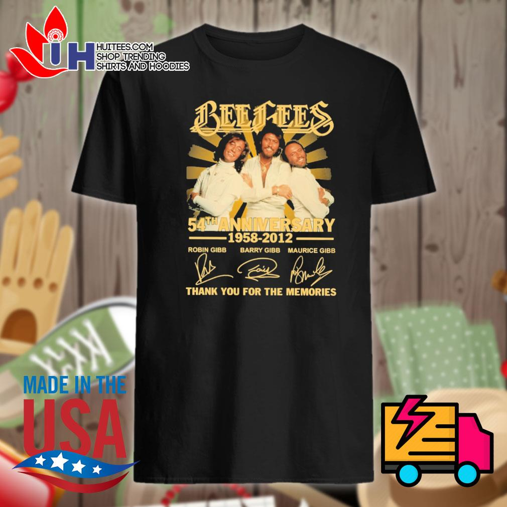 Bee Gees 54th anniversary 1958 2012 signatures thank you for the memories shirt