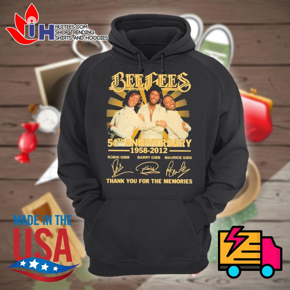 Bee Gees 54th anniversary 1958 2012 signatures thank you for the memories s Hoodie