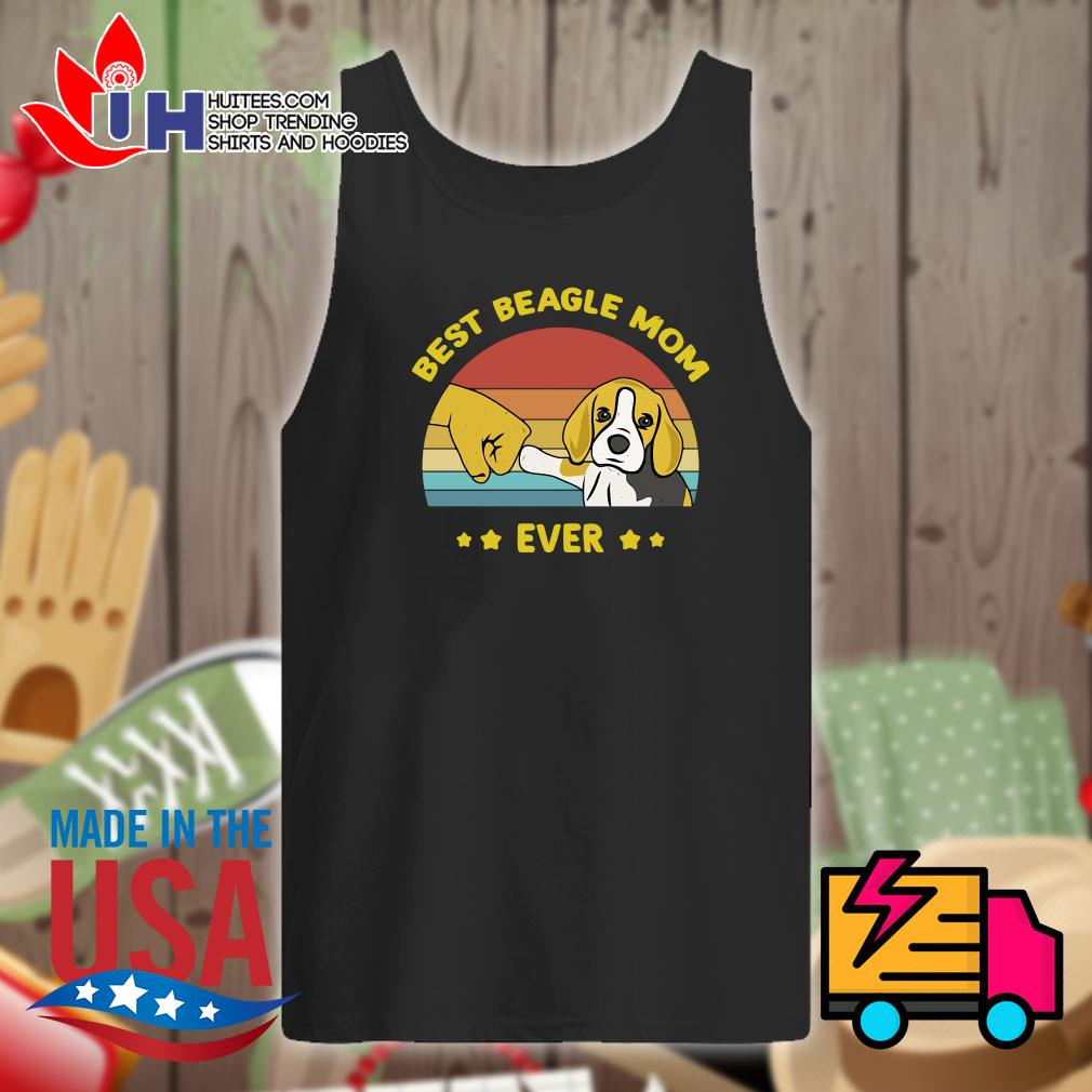 Best Beagle mom ever vintage s Tank-top