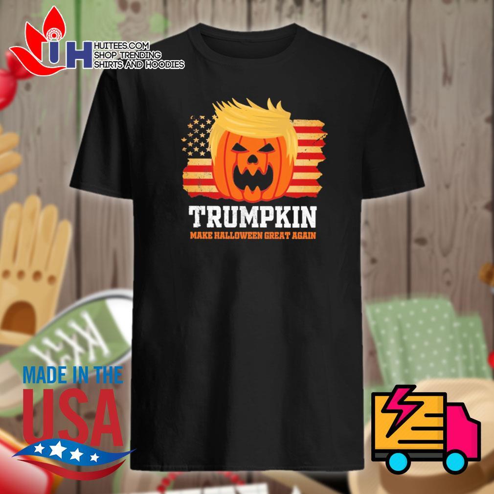 American flag Trumpkin make Halloween great again shirt